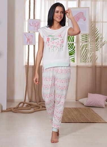 Sevim Pijama Takım Ekru